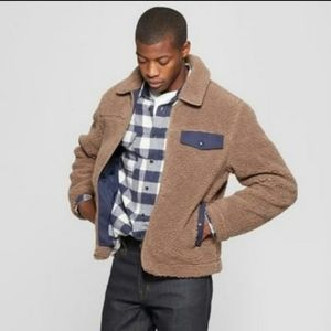 NWT Goodfellow Brown Sherpa Jacket Size Small